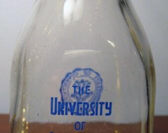 Milk Bottle University of Connecticut Half Pint