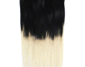 """18"""" 120g #1/613 Ombre Clip-In Hair Extensions"""