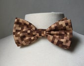 Brown Minecraft Inspired Bow tie
