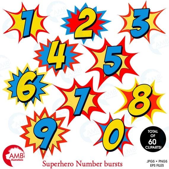 Superhero Numbers Clipart Numbers Clipart Numbers Clipart