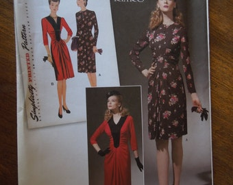 Simplicity 1777, sizes 14-22, UNCUT sewing pattern, craft supplies, dress, misses, womens, retro
