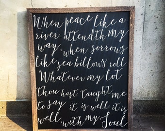 It is well with my soul - lyrics - sign