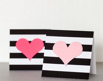 Glam Heart Cards-set of 10