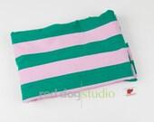 "Nosh Green & Pink Stripe | Organic Jersey | 31"""