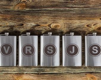 9 groomsmen flask, groomsmen gifts, custom flasks, best man gift, engraved flask, monogrammed flask, wedding, large hip flask, 10 oz