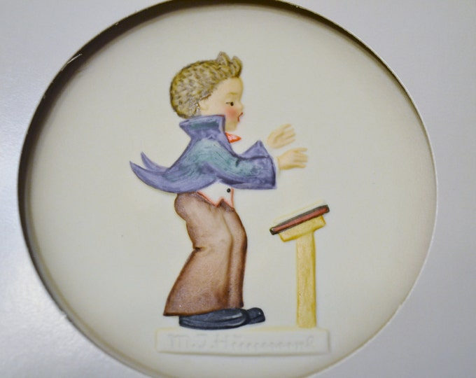Vintage Hummel Little Music Makers  Miniature Plate Goebel In Box West Germany PanchosPorch