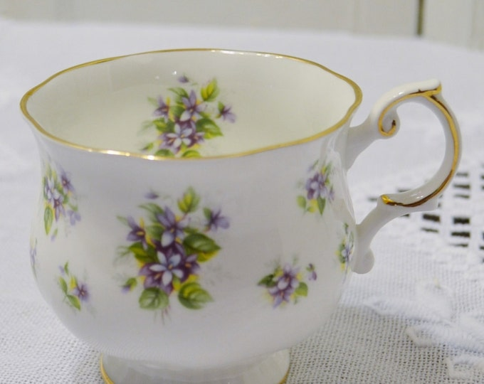 Vintage Queens China Teacup Violet Purple Lavender Floral Bone China Countryside Series England Panchosporch