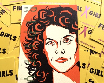 Alien's Ripley (Sigourney Weaver) mini-postcard print