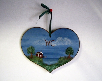 Vintage wc sign etsy - Decor wc ...