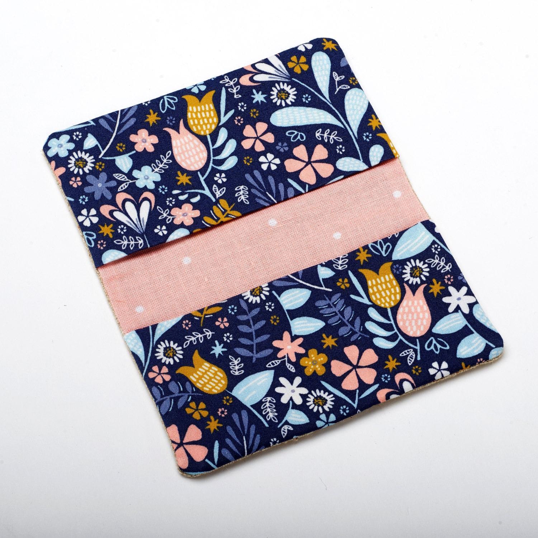 Floral Wallet Flower Card Case Business Card Holder Case