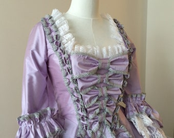 Marie Antoinette Lavender Gown with Bow Stomacher