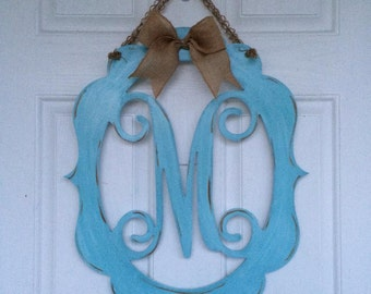 Single Monogram Door Hanger/Wall Decor