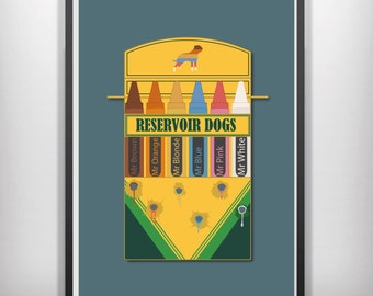 Reservoir dogs crayons minimalist movie poster