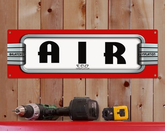 Air Tire Pump Station Eco Wide Metal Sign - #62911