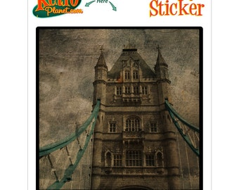 Tower Bridge Above London Rovinato Vinyl Sticker - #64585