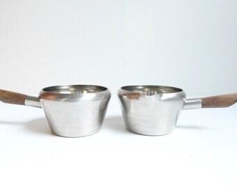 Vintage Pots, Lundtofte, Stainless Steel, Teak, Mid Century Modern, Denmark Pot, Lundtofte Pots, Small Pot, Danish Modern, Scandinavian, Pot