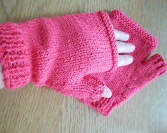 Fingerless knitted Gloves, Valentines Day Gift for wife, girlfriend or mothers day ~ Fingerless Mittens, Winter gloves,