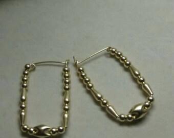 Beaded hoops