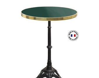 table de bistrot emaillee la fran aise ronde 60 cm table. Black Bedroom Furniture Sets. Home Design Ideas