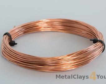 Unplated Copper Round Wire 2.5mm (10ga) x 1m (coil)