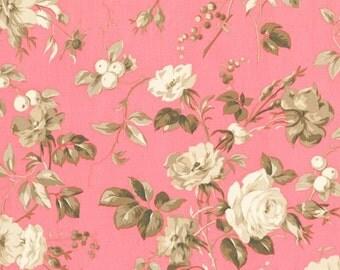 RJR Fabrics Jardin Gris Floral 2730 03 Floral Rose Yardage by Robyn Pandolph
