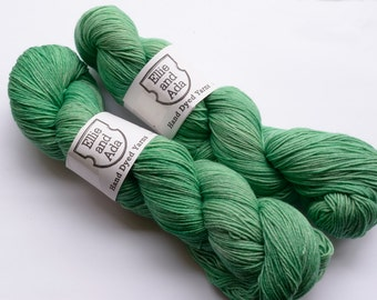 Semi Solid Kettle Hand Dyed Sock Yarn - Lichen