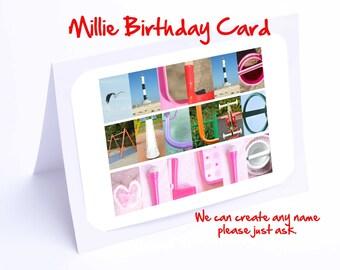Millie Personalised Birthday Card