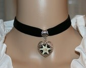 Edelweiss necklace with real natural edelweiss