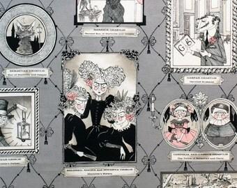 Alexander Henry Ghastlie Fabric - The Ghastlies Gallery - 7605 B Smoke - Half Yard Price