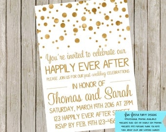 Wedding Reception or After Party invitation
