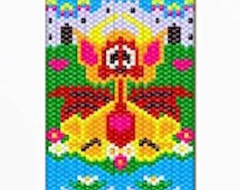 Baby Dragon Beaded banner pattern