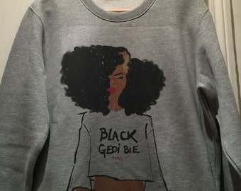 Black geoisie Sweat-shirt