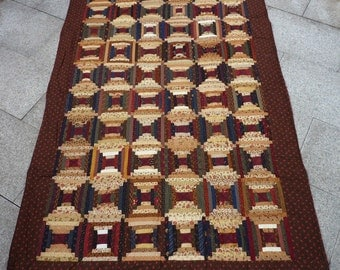 Quilt, Courthouse Steps, Log Cabin, Patchwork