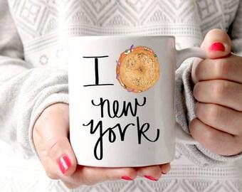 I Love New York Mug - Bagel & Lox Style