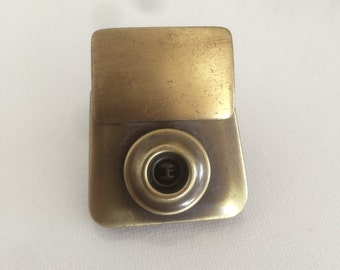 1 Quality Aged Brass Purse/Bag Clasp (Pull-Down-Button)