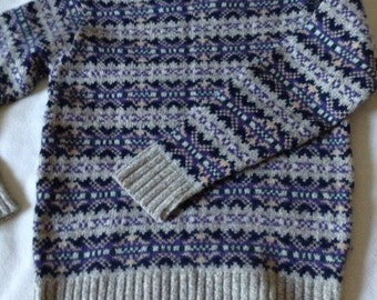 Women's or Child's Cambridge Wool Pullover Jumper, S/M British Ragg Wool, Made in USA