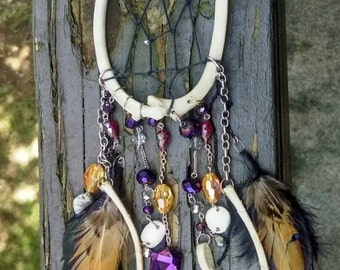 Bone and Feather Dream Catcher