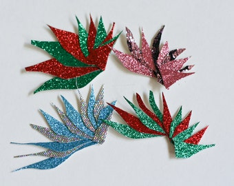 Icicle Hair Clip, Frozen Ice, Icy, Christmas, Blue, Silver, Red, Green, Pink, Black, Lace,