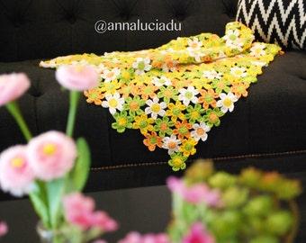 Spring daisy, flowers, crochet flowers, flower motif, fashion crochet, crochet blanket, crochet pattern, PATTERN - INSTANT DOWNLOAD