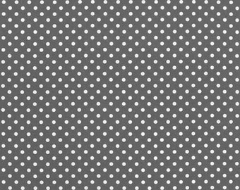 1.75 Yards of Michael Miller DUMB DOT In Charcoal Fabric