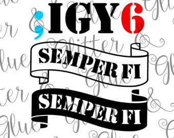 FUNDS DONATED: I Got Your 6 (Six) (Back) Semper Fi Military Veteran Suicide Prevention SVG File