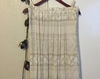 Sandstone Pleated Skirt