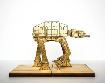 AT-AT on a leash, Star Wars Book Ends, Bookend - Metallic Gold