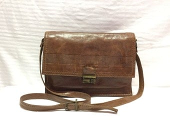 Adpel Italy, Leather purse,Bag, Brown leather, Shoulder Bag, Bags ,Purses, Organizer bag