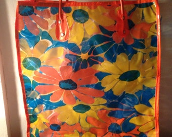 vintage 1960s plastic shopping bag