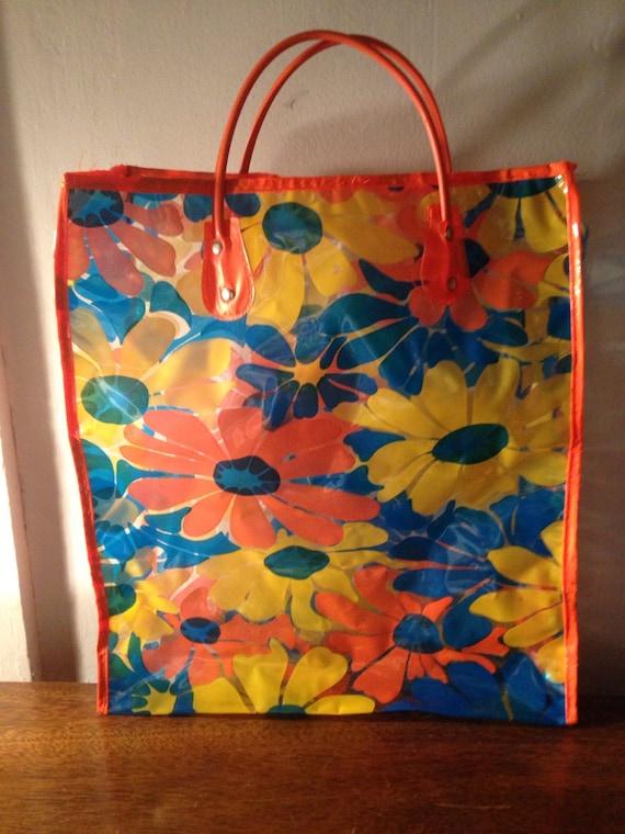 vintage 1960s plastic shopping bag