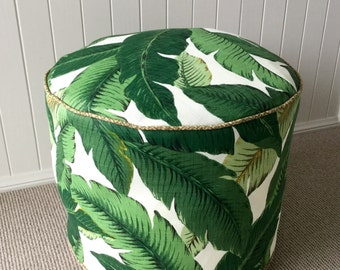 Indoor/Outdoor Tommy Bahama Pouf / Floor cushion/ Ottoman / Cushion Cover Green Tropical  Palm