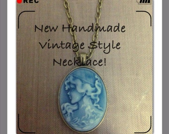 Handmade Vintage Style Cameo Look Necklaces