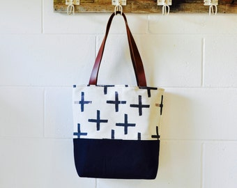 Canvas Tote Bag - Christmas -Weekender Tote - Beach Bag - Carry All - Scandinavian Print - Shoulder bag - Hand Made in Australia