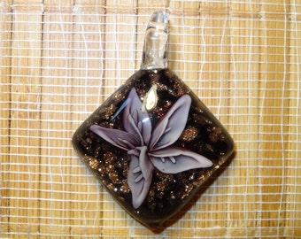 Lampwork Pendant / Glass Pendant / Lampwork Flower Pendant